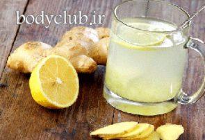 تناسب اندام با لیمو و زنجبیل